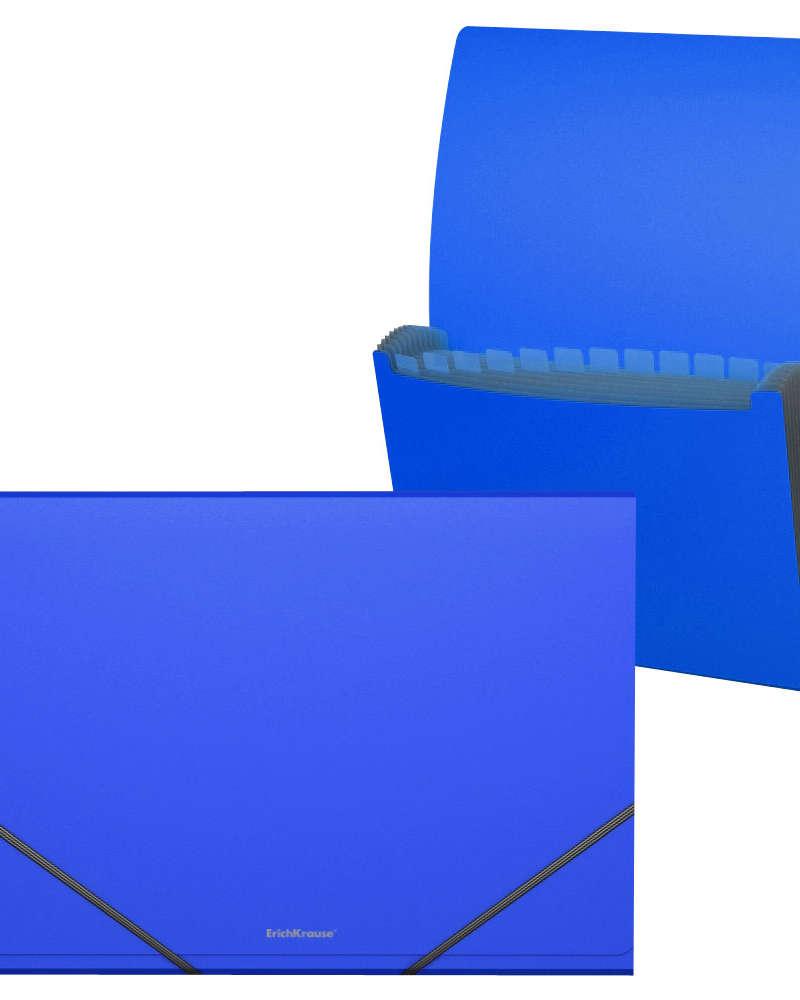Artículos de Oficina - ErichKrause Archivador expandible con Elástico A4 - Azul