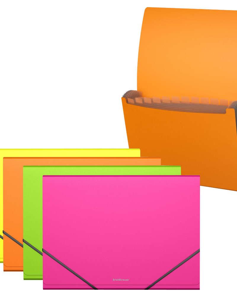 Artículos de Oficina - ErichKrause Archivador expandible con Elástico A4 - Neón