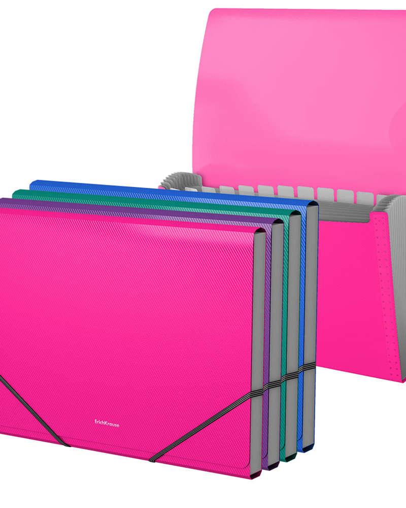 Artículos de Oficina - ErichKrause Archivador expandible con Elástico A4 - Vivid Colors