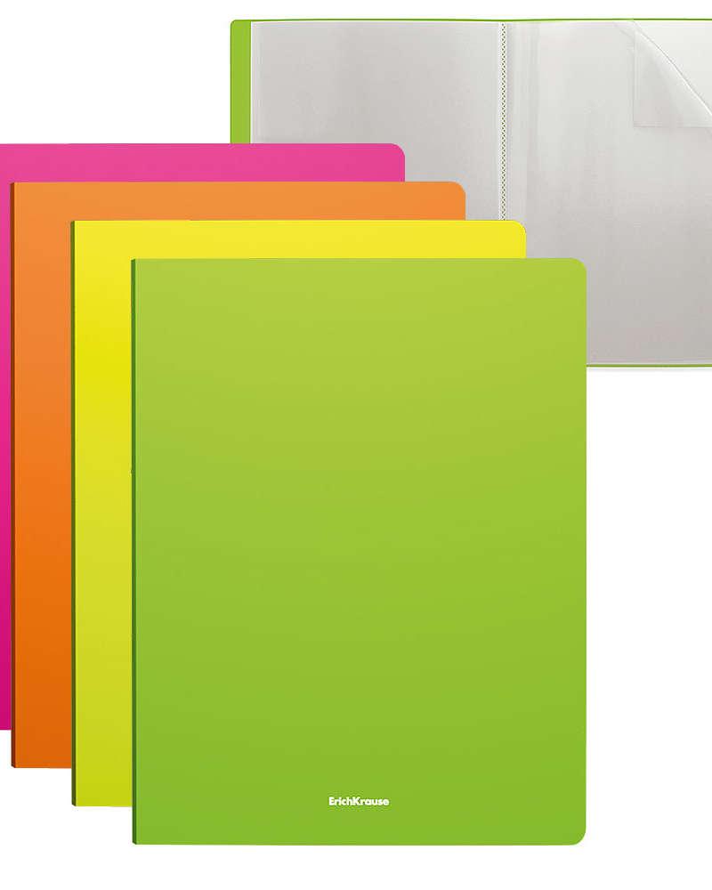 Artículos Escolares y de Oficina - ErichKrause Libro de presentación 20 H T/C - Neón