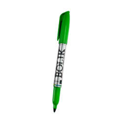Artículos Escolares y de Oficina - Bolik Marcadores permanentes Punta Fina - Verde