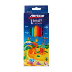 Artículos Escolares - Artesco Lápices de colores Triangulares - 12 unidades