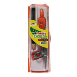 Artículos Escolares - Fast Compás Metálico c/lápiz Caja