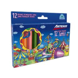 Artículos Escolares - Artesco Crayones de cera Triangulares Jumbo - 12 unidades