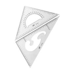 Artículos Escolares - Fast Juego de Escuadras 45°/60° - 27 cms
