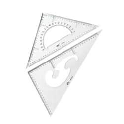 Artículos Escolares - Fast Juego de Escuadras 45°/60° - 32 cms