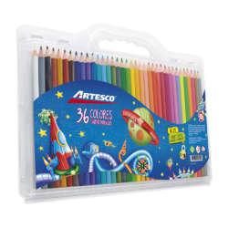 Artículos Escolares - Artesco Lápices de colores Triangulares - 36 unidades