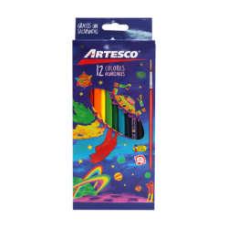 Artículos Escolares - Artesco Lápices de colores Triangulares Acuarelables - 12 unidades