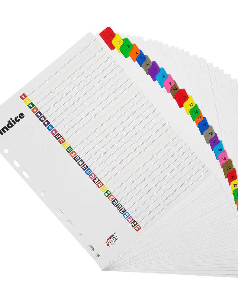Artículos de Oficina y de Papelería - Fast Separadores 1-31