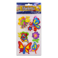 Artículos Escolares - Merletto Figuras de Foamy Adhesivas - Mariposas