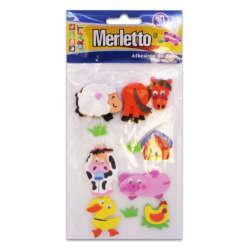 Artículos Escolares - Merletto Figuras de Foamy Adhesivas - Animales de Granja