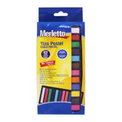 Artículos Escolares y de Arte - Merletto Set de Yeso Pastel - 12 unidades