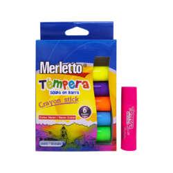Artículos Escolares y de Arte - Merletto Set de Témperas en Barra - 6 unidades