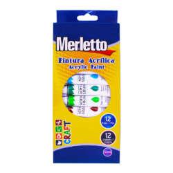 Arte - Merletto Set de Pinturas Acrílicas - 12 unidades