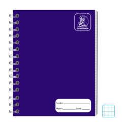 Cuadernos - Conquistador Cuaderno Doble Espiral #12 Color 100 H - Cuadro (8mm)