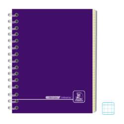 Cuadernos - Conquistador Cuaderno Doble Espiral #12 Color 180 H 5 Mats - Cuadro (8mm)
