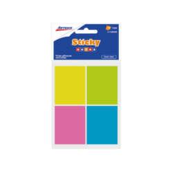 Artículos de Oficina - Artesco Notas Adhesivas 1.5″ X 2″ 4 Colores Neones