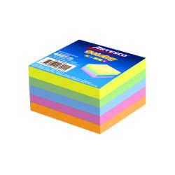 Artículos de Oficina - Artesco Notas Adhesivas Mini Cubo 2″ X 2″ 5 Colores Neones