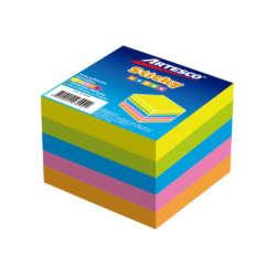 Artículos de Oficina - Artesco Notas Adhesivas Cubo 3″ x 3″ 5 Colores Neones