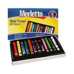Artículos Escolares y de Arte - Merletto Set de Oleos Pasteles - 12 unidades