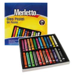 Artículos Escolares y de Arte - Merletto Set de Oleos Pasteles - 24 unidades