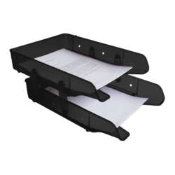 Artículos de Oficina - Artesco Papelera Portapapel Premium 2/niveles - Negra