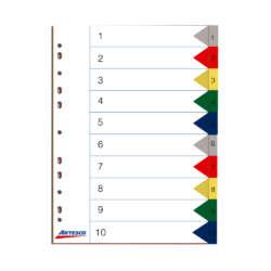 Artículos Escolares y de Oficina - Artesco Separadores Index - 10 divisiones