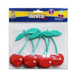 Artículos Escolares - Merletto Set de 3 Figuras de Foamy - Cerezas