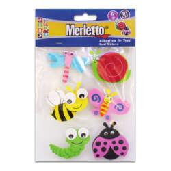 Artículos Escolares - Merletto Figuras de Foamy Adhesivas 3D - Insectos
