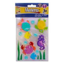 Artículos Escolares - Merletto Figuras de Foamy Adhesivas 3D - Animales Marinos