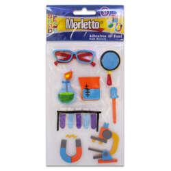 Artículos Escolares - Merletto Figuras de Foamy Adhesivas - Laboratorio
