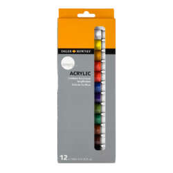 Arte - Daler Rowney Simply Set de Pinturas Acrílicas - 12 unidades
