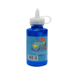 Artículos Escolares y Arte - Conki Goma Escarchada 53 ml - Azul Neón