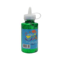Artículos Escolares y Arte - Conki Goma Escarchada 53 ml - Verde