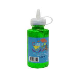 Artículos Escolares y Arte - Conki Goma Escarchada 53 ml - Verde Neón