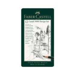 Arte - Faber-Castell Set de Lápices de Grafito Art 9000 - 12 unidades
