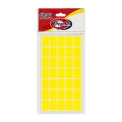 Artículos Escolares y de Oficina Pegafan Etiquetas 13 mm x 19 mm - Amarillo Fluor