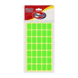Artículos Escolares y de Oficina Pegafan Etiquetas 13 mm x 19 mm - Verde Fluor
