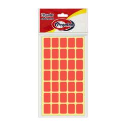 Artículos Escolares y de Oficina Pegafan Etiquetas 13 mm x 19 mm - Rojo Fluor