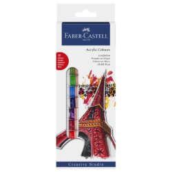 Arte - Faber-Castell Set de Pinturas Acrílicas - 12 unidades