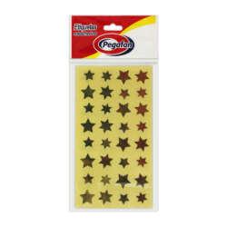 Artículos de Papelería Pegafan Etiquetas Autoadhesivas Estrellas - Doradas