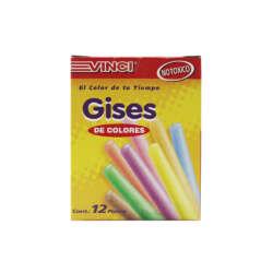 Artículos Escolares y de Oficina - Vinci Set de Yeso de Colores - 12 unidades