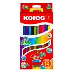 Artículos Escolares - Kores colores Jumbo Duo