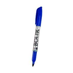 Artículos Escolares y de Oficina - Bolik Marcadores permanentes Punta Fina - Azul