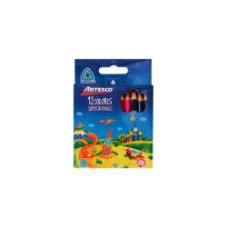 Artículos Escolares - Artesco Lápices de colores Triangulares Cortos - 12 unidades
