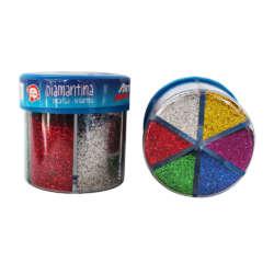 Arte - Artesco Dispensador de diamantina de 6 colores
