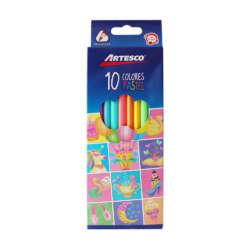 Artículos Escolares - Artesco Lápices de colores Triangulares Pasteles - 10 unidades