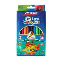 Artículos Escolares - Artesco Lápices de colores Triangulares Jumbo - 12 unidades
