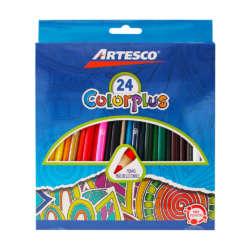 Artículos Escolares - Artesco Lápices de colores Triangulares - 24 unidades