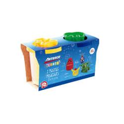 Artículos Escolares - Artesco Set de 2 Masitas Moldeables de 5 oz - Amarilla y azul